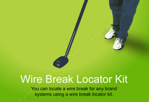 A drawing showing a man locating wire breaks