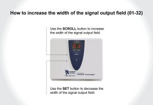 A photo showing how to increase the width of the signal